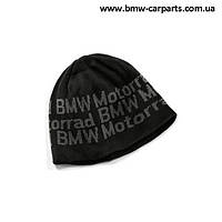 Вязаная шапка BMW Motorrad Knitted Beanie Logo, Black