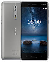 Смартфон Nokia 8 Dual SIM Silver 4/64gb Qualcomm Snapdragon 835 3090 мАч