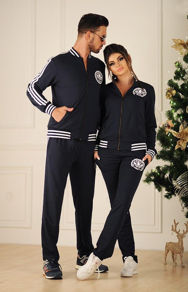 Женский спортивный костюм с лампасами, реплика Adidas, серия он и она