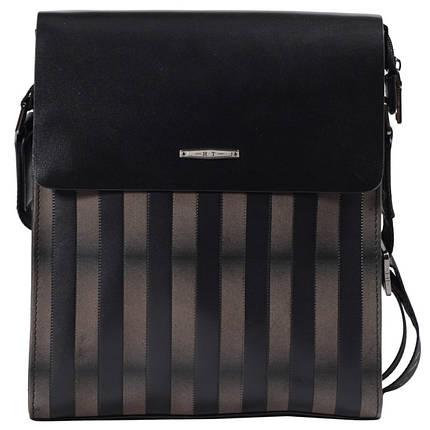 d0987a090349 Мужская кожаная сумка в полоску черно-бежевая HT HT007191-41 купить ...