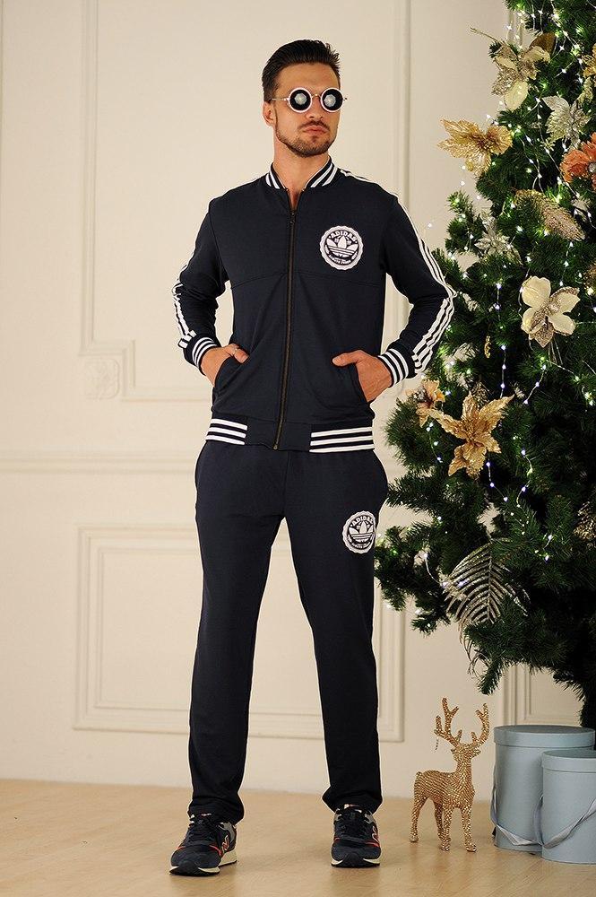 Мужской спортивный костюм с лампасами, реплика Adidas, серия он и она