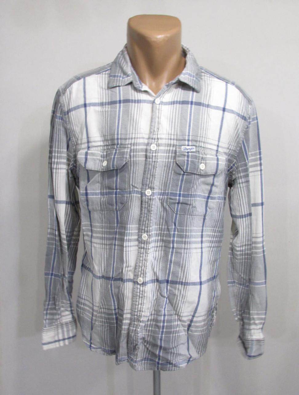 Рубашка Wrangler, L, винтажная, плотная, Отл сост!