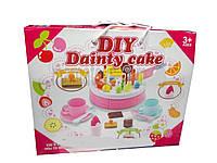 Набор продукты на липучке LKE12J, торт, украшения для торта, посуда, игрушечные продукты