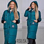 Женская модная удлиненная зимняя куртка на молнии с капюшоном (7 цветов), фото 3