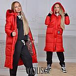 Женская модная удлиненная зимняя куртка на молнии с капюшоном (7 цветов), фото 8