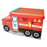 Пуф-ящик для игрушек Пожарная машина