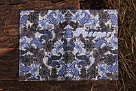 Обложка на Паспорт / Платок Украинский Синий / Кожзам