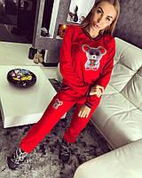 Утеплённый спортивный костюм. Красный, 3 цвета. SML-единый.