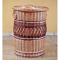 Корзина для белья плетеная из лозы Круглая