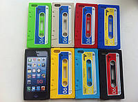 Силиконовый чехол кассета бежевая, синяя, берюза для Iphone 5/5S, фото 1