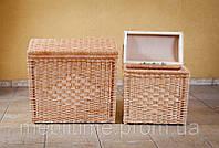 Корзина-сундук для белья плетеная из лозы