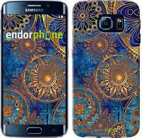 "Чехол на Samsung Galaxy S6 Edge G925F Золотой узор ""678c-83-4103"""