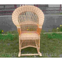 Кресло качалка плетеное из лозы Широкое