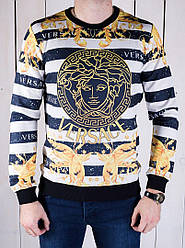 Теплая мужская Versace в полоску топ реплика