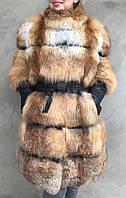 Пальто из меха рыжей лисы