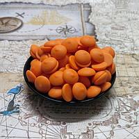Бельгийский шоколад Barry Callebaut оранжевый со вкусом апельсина (1 кг.)