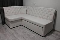 Белый кухонный мягкий уголок со спальным местом, фото 1