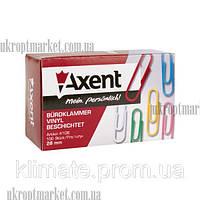"""Скрепки цветные 28мм 100шт Axent """"KT"""" - купить канцелярию оптом ZB-10"""
