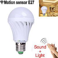 Светодиодная лампа 3W с датчиками освещенности и звука