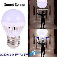 Светодиодная лампа 5W с датчиками освещенности и звука