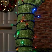 Вулична гірлянда нитка на чорному проводі 480 LED 30 м