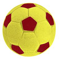 """Футляр бархатный для кольца """"Мяч"""" желто-красный"""