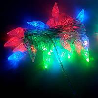 Гирлянда цветная 28 лампочек микс Шишки