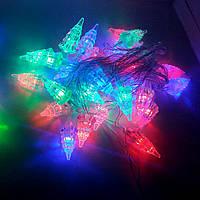 Гирлянда цветная 28 лампочек микс Елочки