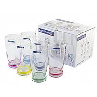 "Набор стаканов стекло ""Luminarc. Cortina Rainbow"" (6шт) 330мл J3138 / 04098"