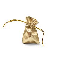Мешочек парча (вельвет) золото 5х7 см 100 шт в уп.