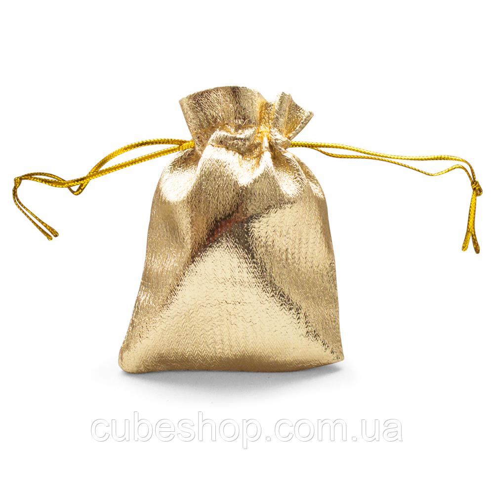 Мешочек парча (вельвет) золото 7х9 см 50 шт в уп.