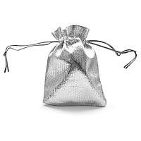 Мешочек парча (вельвет) серебро 7х9 см 100 шт в уп.