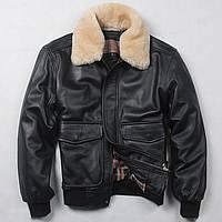 Стильная кожаная куртка пилот. (1365), фото 1