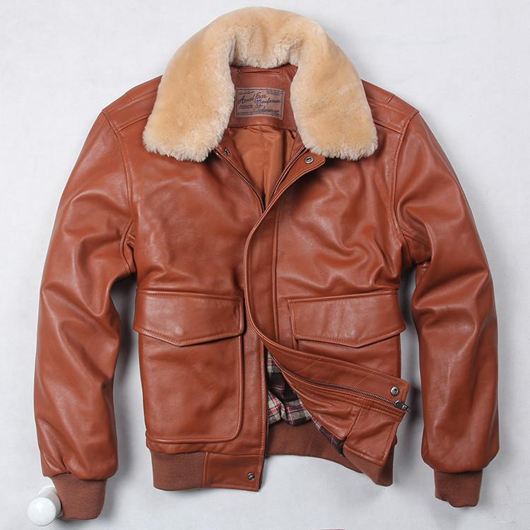 Мужская кожаная куртка пилот еврозима