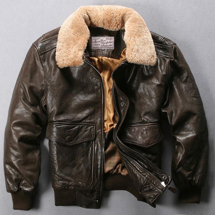 Стильная кожаная куртка пилот. (1367)
