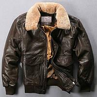 Стильная кожаная куртка пилот. (1367), фото 1