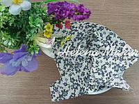 Отрез ткани для рукоделия 20*25 см Белый в темно-голубые розы