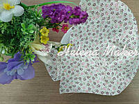 Отрез ткани для рукоделия 20*25 см Белый в нежные цветочки