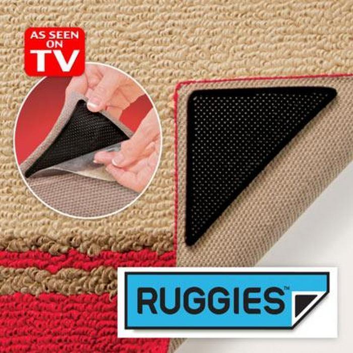 Уголки-липучки Ruggies для ковриков и ковров (4 шт)