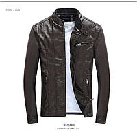 Мужская демисезонная кожаная куртка, фото 1
