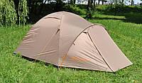 Легкая четырехместная палатка Mousson ATLANT 4 AL SAND, материал - нейлон, каркас - алюминий, желтая, 7779