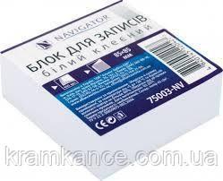 Бумага для заметок NAVIGATOR 75003-NV белая клеяная 85х85мм 400л , фото 2