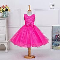 """Вечернее платье для девочек """"Фаина"""". В ярко-розовом цвете."""