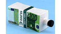Пачка 100 ЕВРО графин штоф 0,5 л. (пачка денег MSE)