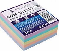 Бумага для заметок NAVIGATOR 75007-NV цветная клеяная 85х85мм 400л, фото 2