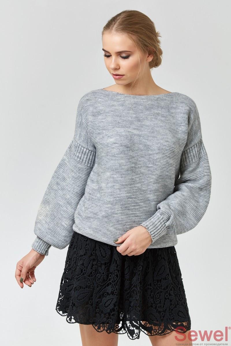 Зимний женский вязаный свитер