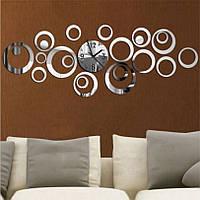 Декоративные часы 3D DIY акриловое зеркало, Дизайн и декор