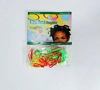Резинка силикон яркая для африканских косичек 12 шт
