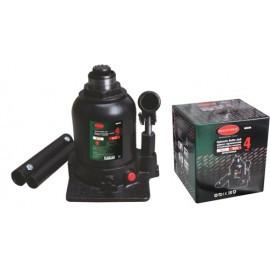 Домкрат бутылочный двухштоковый с клапаном + дополнительный ремкомплект, 4т (высота подхвата - 160мм, высота п