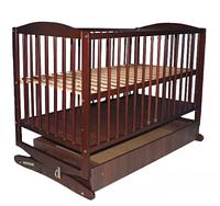 Детская кроватка -колыбель Klups Radek II с ящиком орех